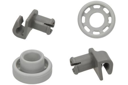 Wheels Dishwasher suitable for Bosch, Siemens Upper Basket 2 Pieces
