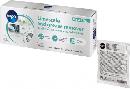 WPRO Limescale, dirt & grease remover DES121 for all washing machines & dishwashers 484000008801
