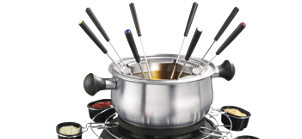 Fondue pan parts and accessories